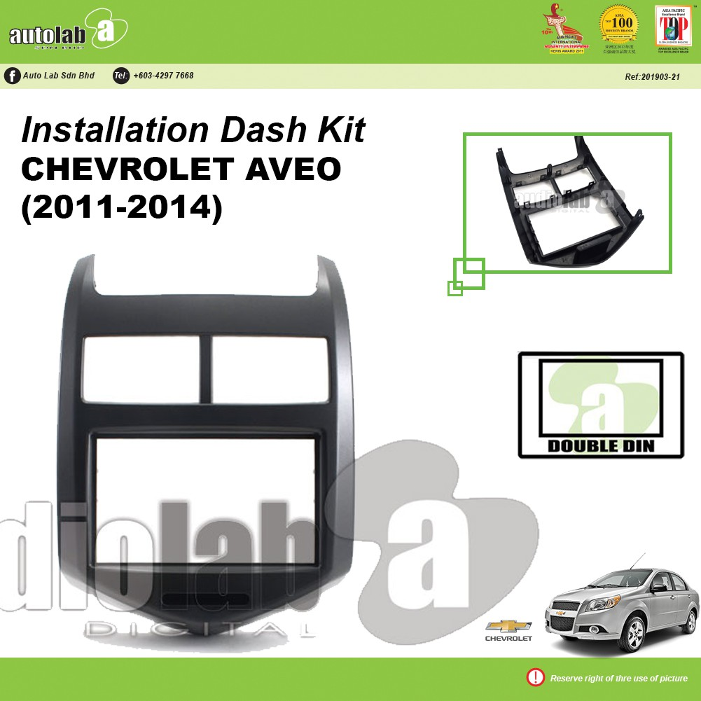 Player Casing Double Din Chevrolet Aveo 2011-2014