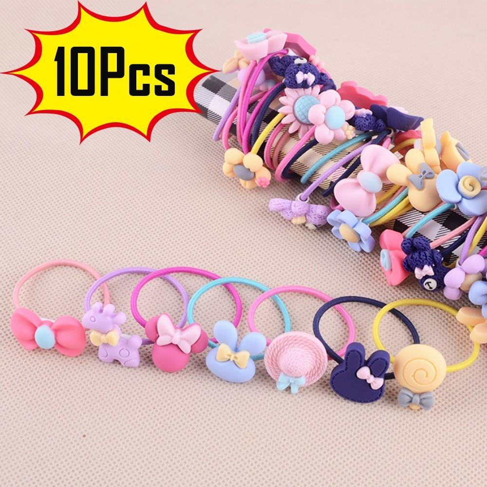 100Pcs Women Girls Hair Band Ties Rope Ring Elastic Hairband Ponytail Holder