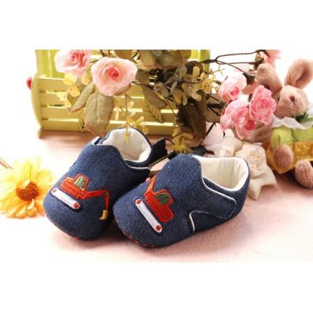 Baby Girls Pram ShoesMothercareBlue Polkadot Slip On PumpsVarious Sizes