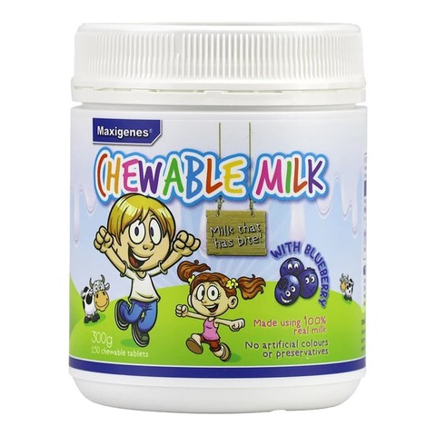 【Ready Stock】Maxigenes Chewable Milk with Blueberry 蓝莓咀嚼牛奶