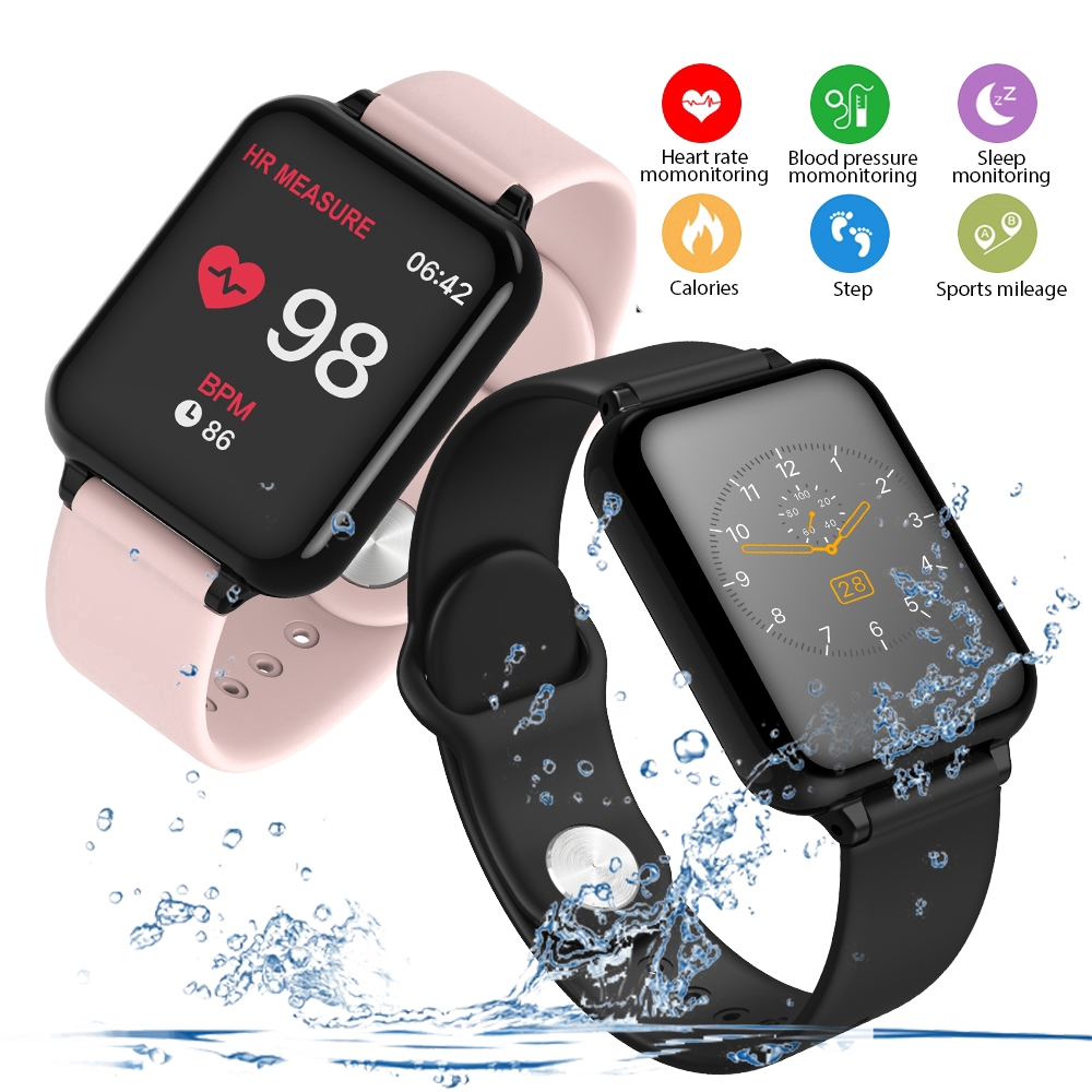 B57 Women Waterproof Smart watches Heart Rate Monitor Blood Pressure Functions for Iphone