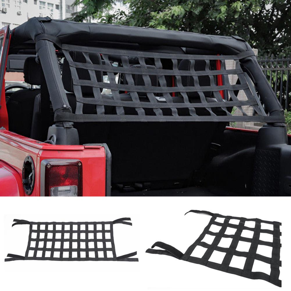 Heavy Duty Network Roof Net Rest Bed Top Cover Exterior Soft Cargo Auto Accessories Car Hammock For Jeep Jk 07-18 Automobiles & Motorcycles