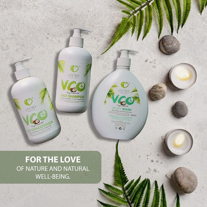 Lifetree VCO Virgin Coconut Oil Shampoo + Conditioner + FREE Body Wash