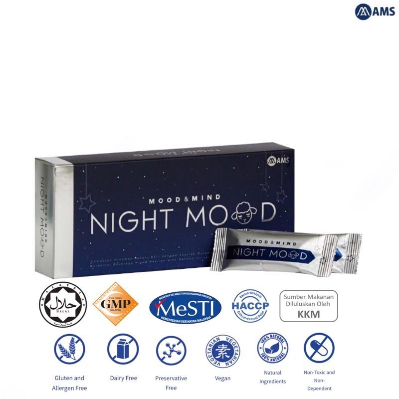 AMS Night Mood Improve Insomnia Sleep Vitamin(HALAL)睡眠维他命
