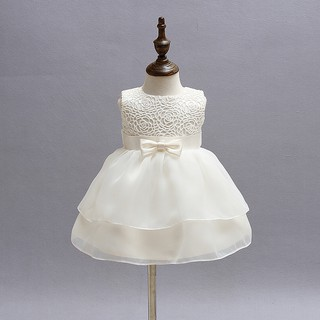 f675f89dab025 Summer Infant Party Dress Girl Newborn s Baptism Clothes 1st ...