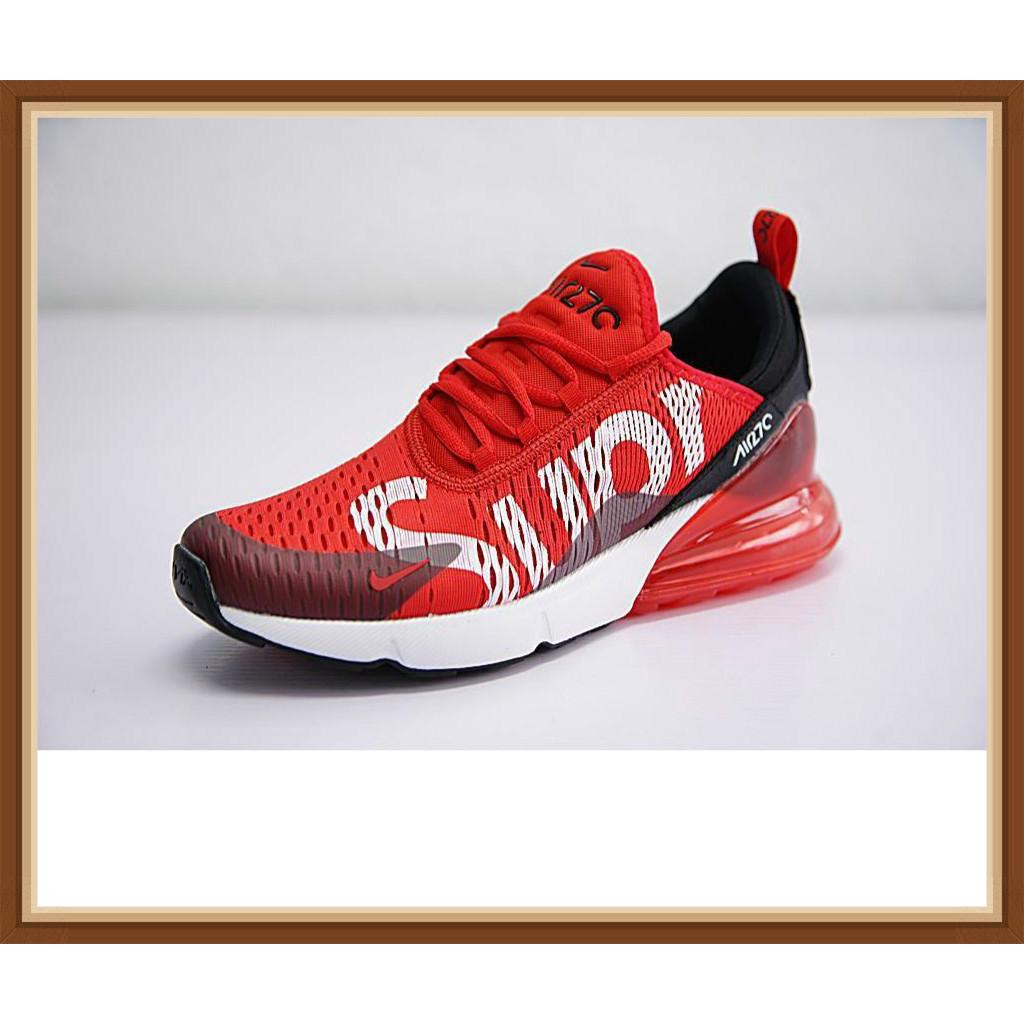 first rate uk cheap sale pick up Nike Air Max 270 x Supreme Shoes Men Airmax 27c Running Shoes Sport  Sneakers Red