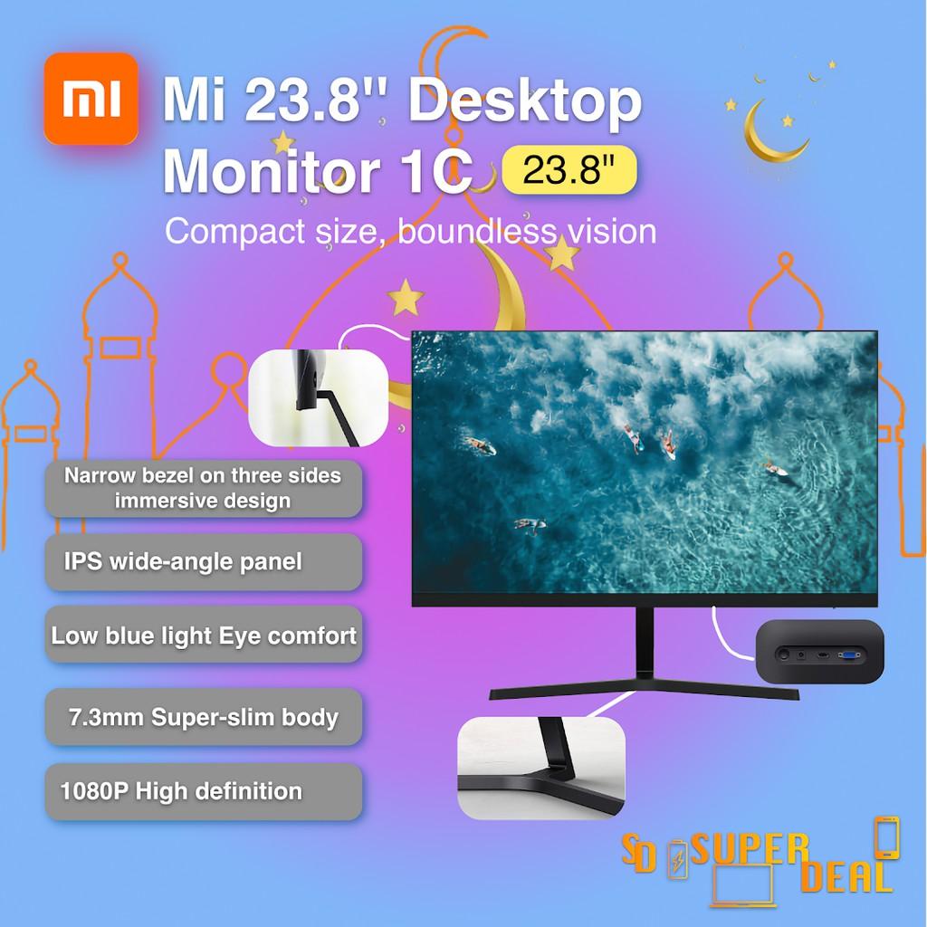 Mi 23.8'' Desktop Monitor 1C (IPS wide-angle panel , Narrow bezel on three sides immersive design,7.3mm Super-slim body)