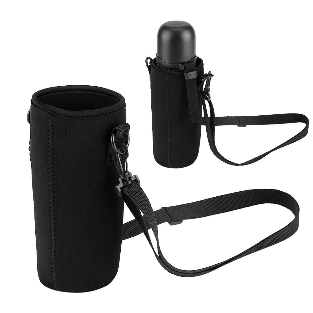 Portable Water Bottle Carrier Insulated Cup Cover Bag Holder Pouch with Strap Mf