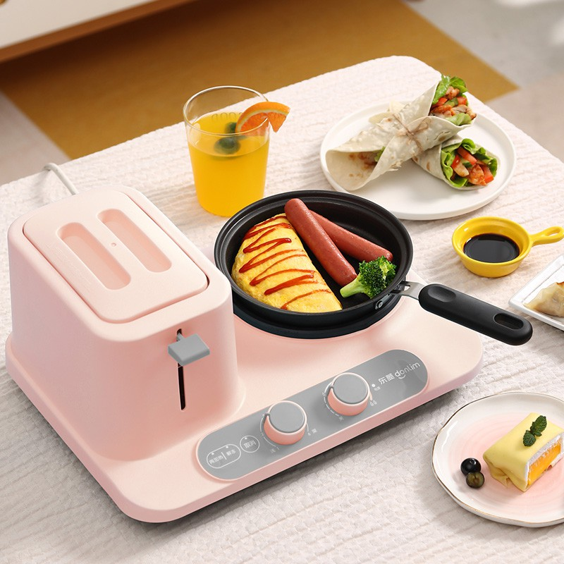 [NEW] Students Multifunction Cooker Breakfast Machine 3 in 1 Toaster 多功能电电器小型烤面包