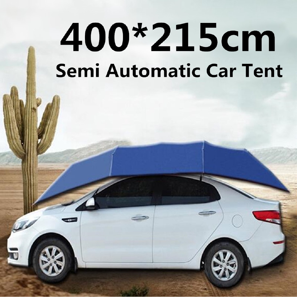 400 215cm Portable Semi Automatic Outdoor Car Umbrella Tent Shopee