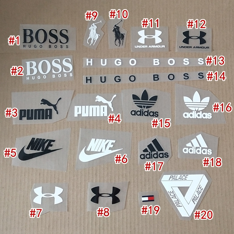 juez lavar Importancia  Nike Adidas Armani puma tommy Heat Transfer Iron-on Stamp Clothing  Decoration Patch Decals Patches Stickers T-Shirt Diy   Shopee Malaysia