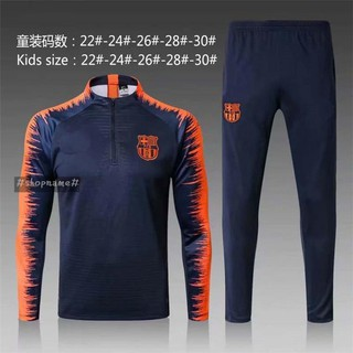 quality design f9726 70fe5 Top 2019 Barcelona Long Sleeve Football Jersey Navy Training Suit