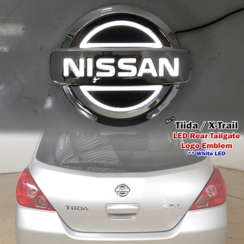 White LED Rear Boot Logo Badge Emblem For Nissan Tiida C11 X-Trail T30 T31  T32