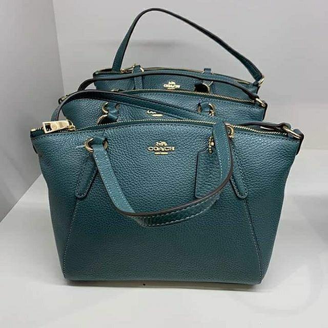 faf0c672e7890 Coach pebble leather mini kelsey satchel dark turqoise | Shopee Malaysia