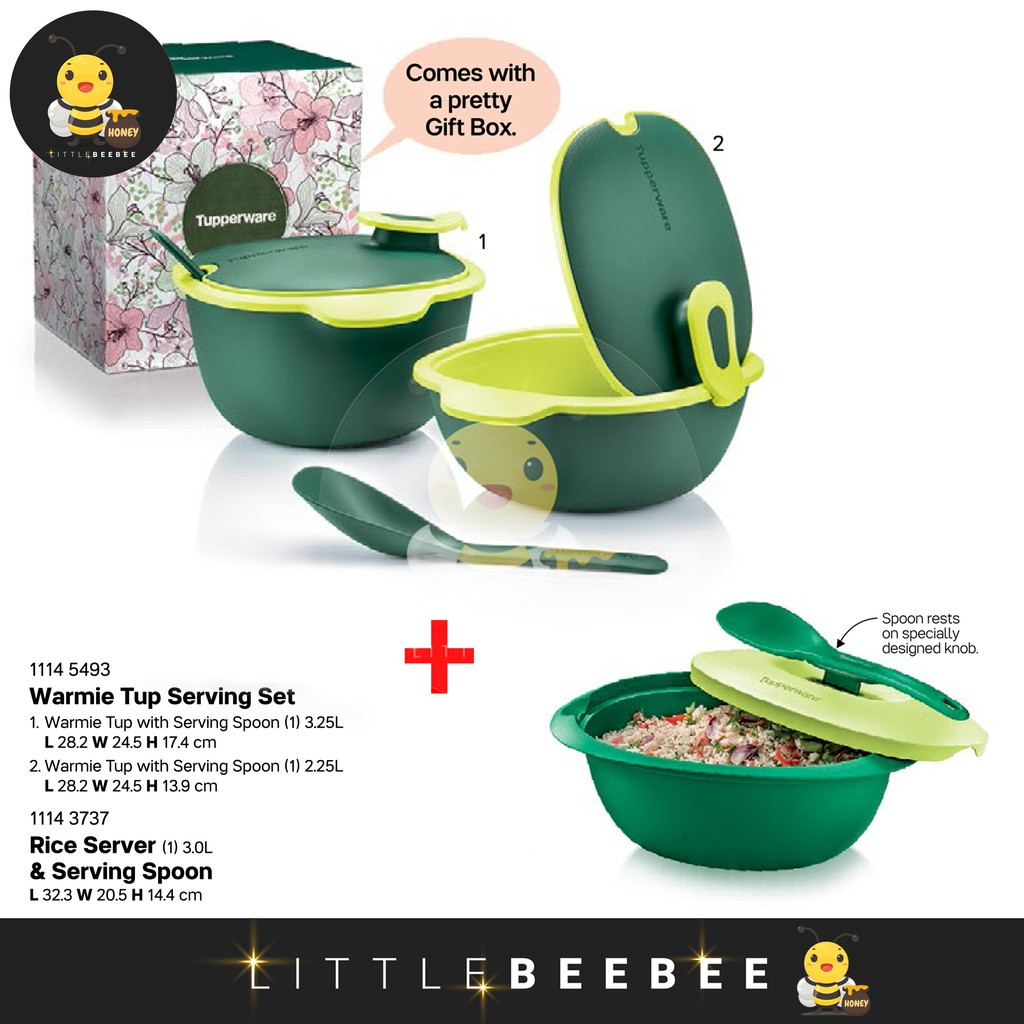READY STOCK !!! Tupperware Warmie Tup Serving Set with Gift Box (FULL SET with PWP)