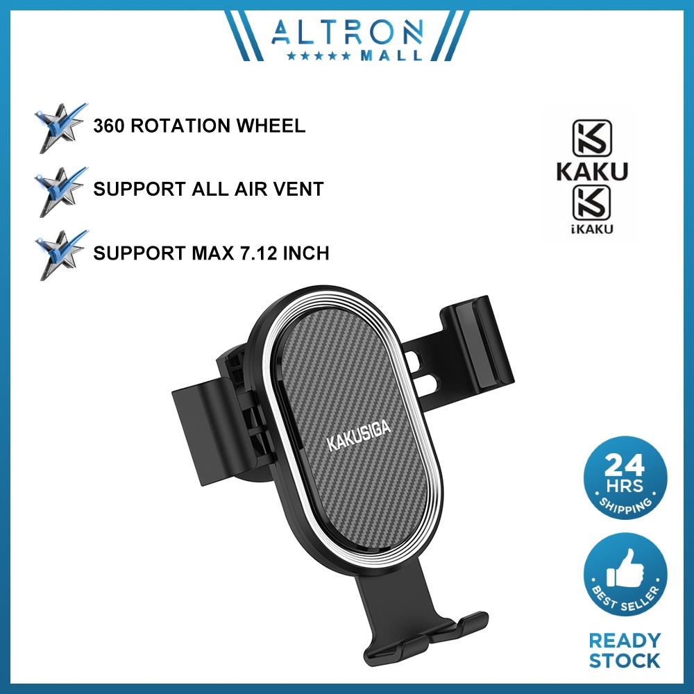IKAKU KAKU YUNQI Car Phone Air Vent Holder 360 Degree Free Rotation Adjust Stable Smartphone Samsung Huawei