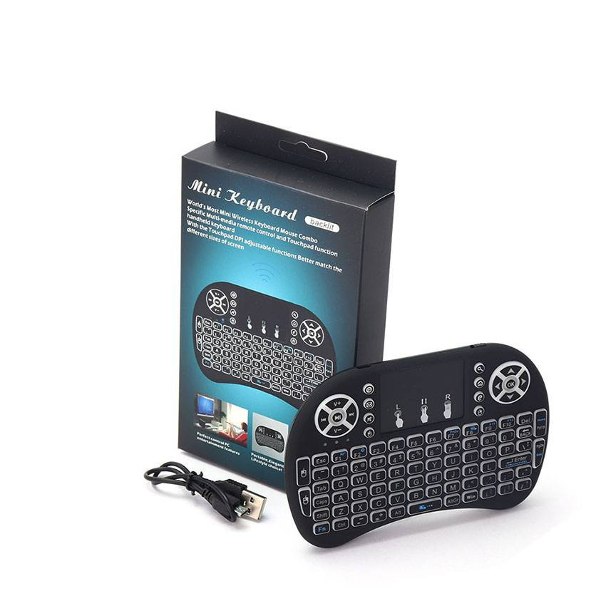 WIRELESS 3 IN 1 MINI KEYBOARD SMART TV REMOTE MULTIMEDIA CONTROL AND TOUCH PAD FUNCTION HANDHELD KEYBOARD