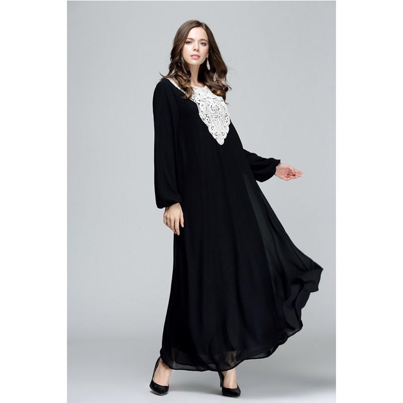 Muslim Dresses Arabic Islamic Loose Dress Double Layers Kaftan Islamic Abaya   680ff33abfcc