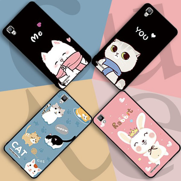 (AnnieAnn)VIVO V3,V3Max Cute Cartoon Soft Casing with Lanyard and Ring Stand H