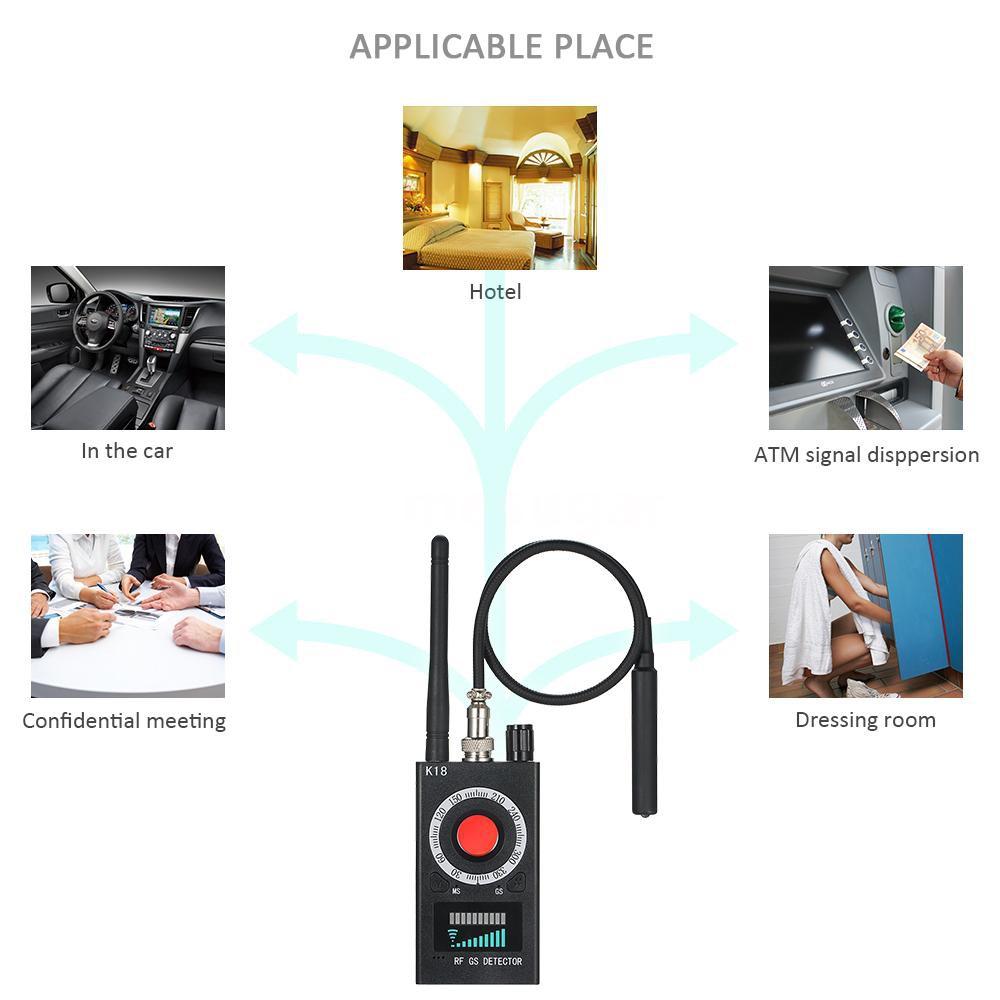Anti Spy Detector Hidden Camera GSM Bug Finder GPS Signal Lens RF Tracker AX