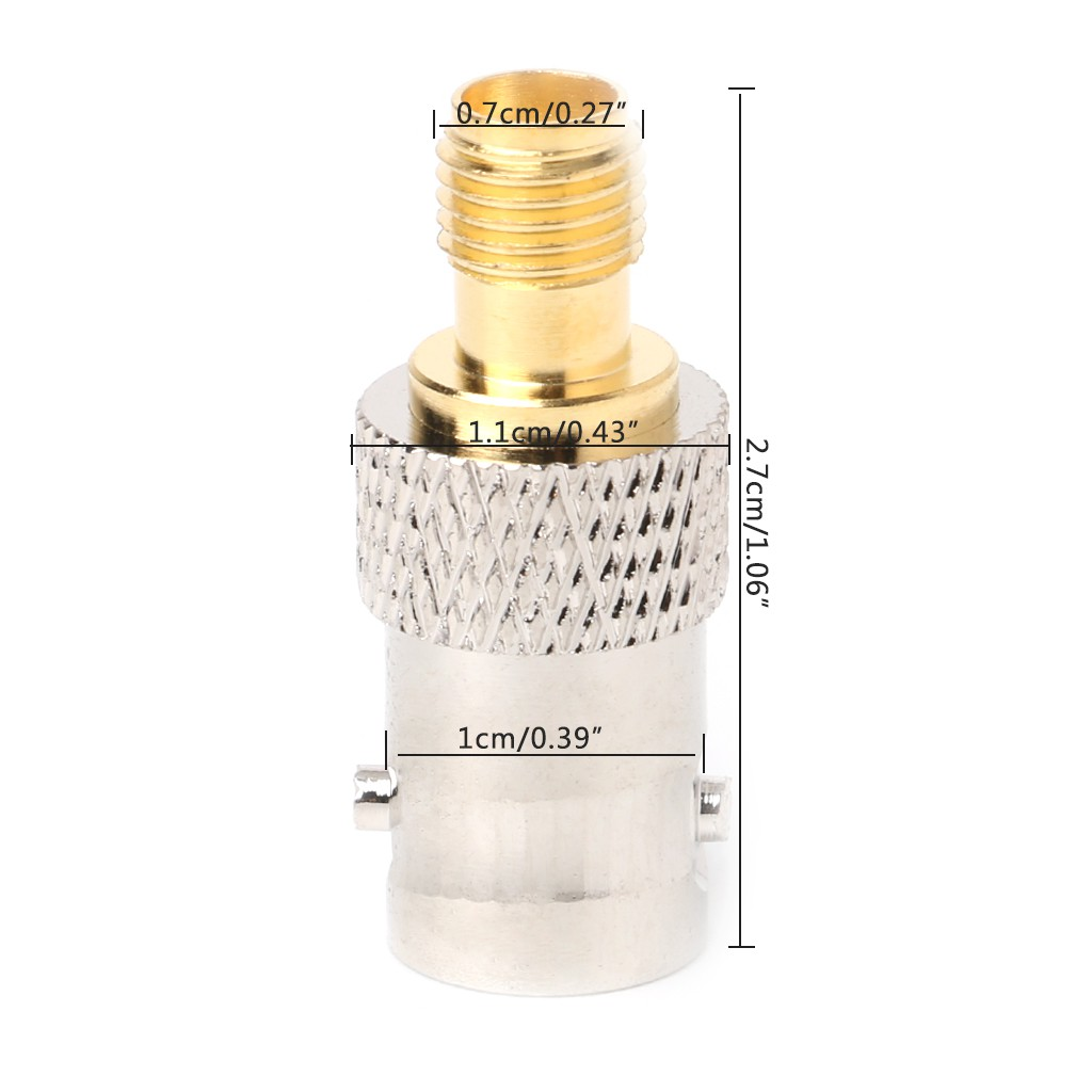 BNC Female Plug to SMA Female Jack Antenna Adapter Copper Connector Converter