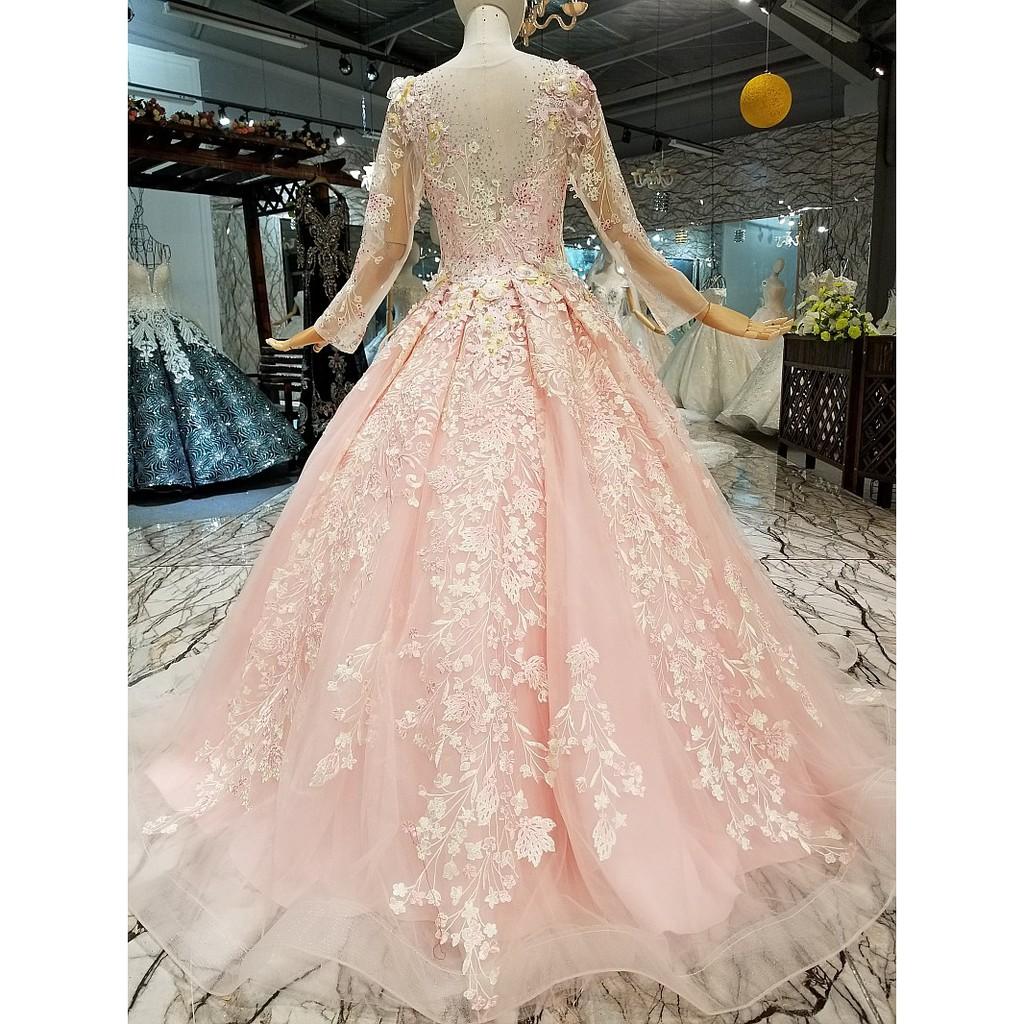 BEAUNIQUE Grand Floral Pink Garden Wedding Baju Pengantin Dream Premium  Wedding Gown Bridal Wear Fashion Show Dinner