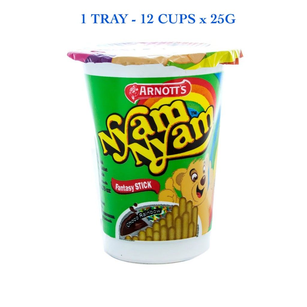 NYAM NYAM [100% Original & Halal] - FANTASY STICK SPARKLING CHOCO (12 Cups x 25g)  ***Fresh Stocks***
