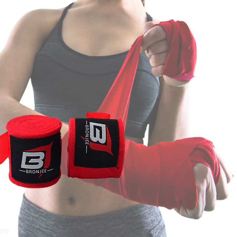 Boxing Hand Wraps MMA Muay Thai Training Martial Arts Bandage Wrist Support 4.5m