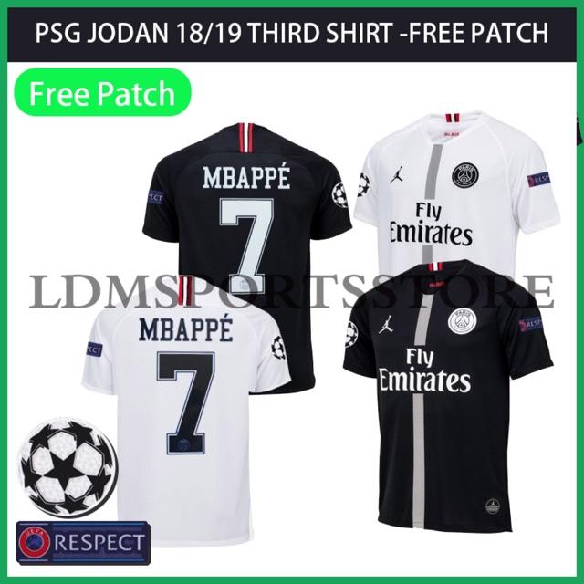the best attitude 3173d b64eb JODAN Paris Saint-Germain Jersei 2018/19 Home PSG Jersey MBAPPE Shirts