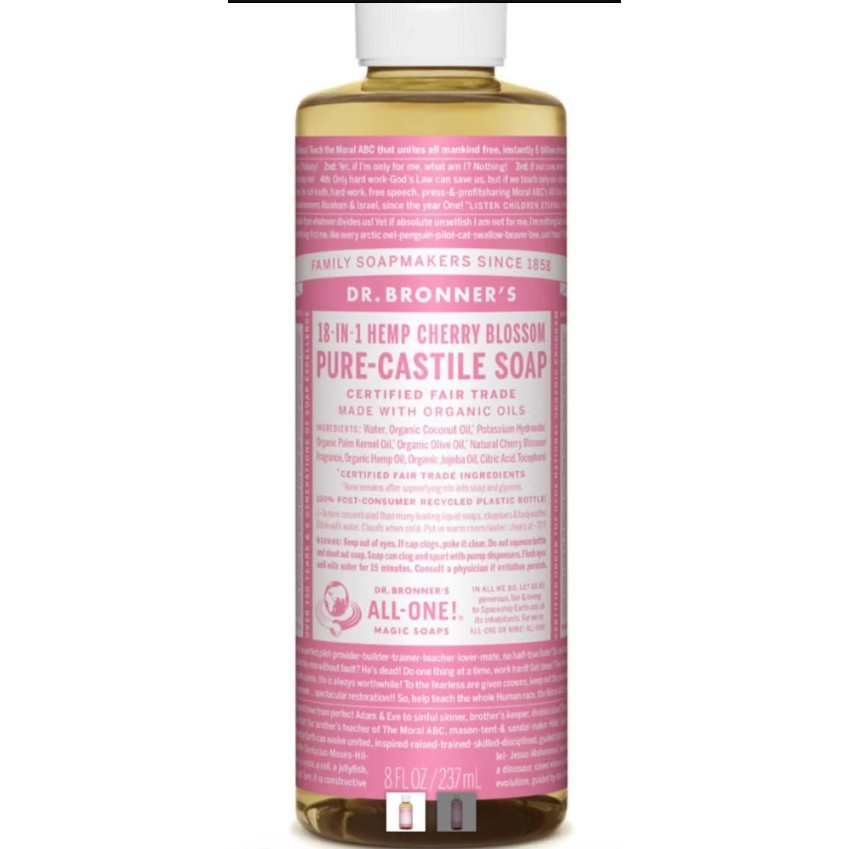 Dr Bronner Cherry Blossom Pure-Castile Soap (237ml)