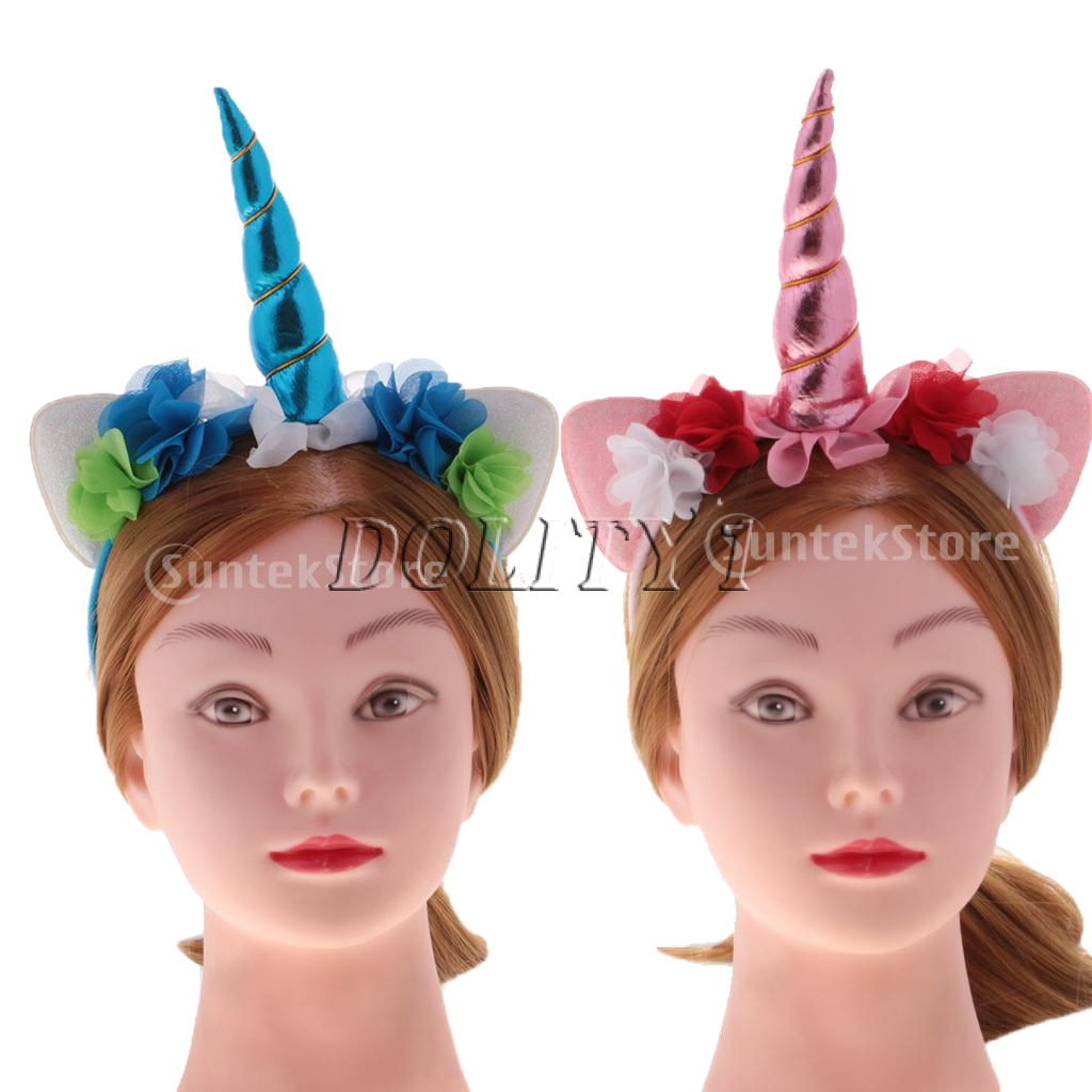 NEW Silver unicorn horn ears aliceband fashion party hen stag fancy dress