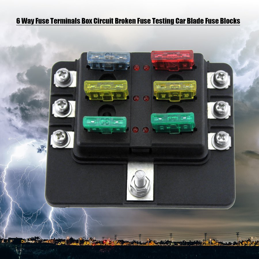 12 Way Circuit Standard Ato Atc Blade Fuse Box Block Holder Spade Car Terminals Shopee Malaysia