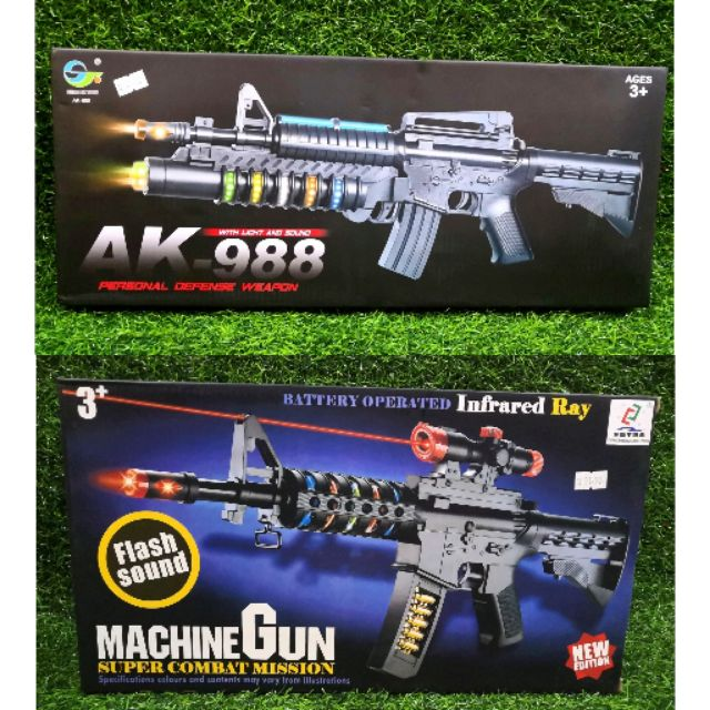 Ready Stock Kids Children Toys Gun With Led Flash Shopee Malaysia