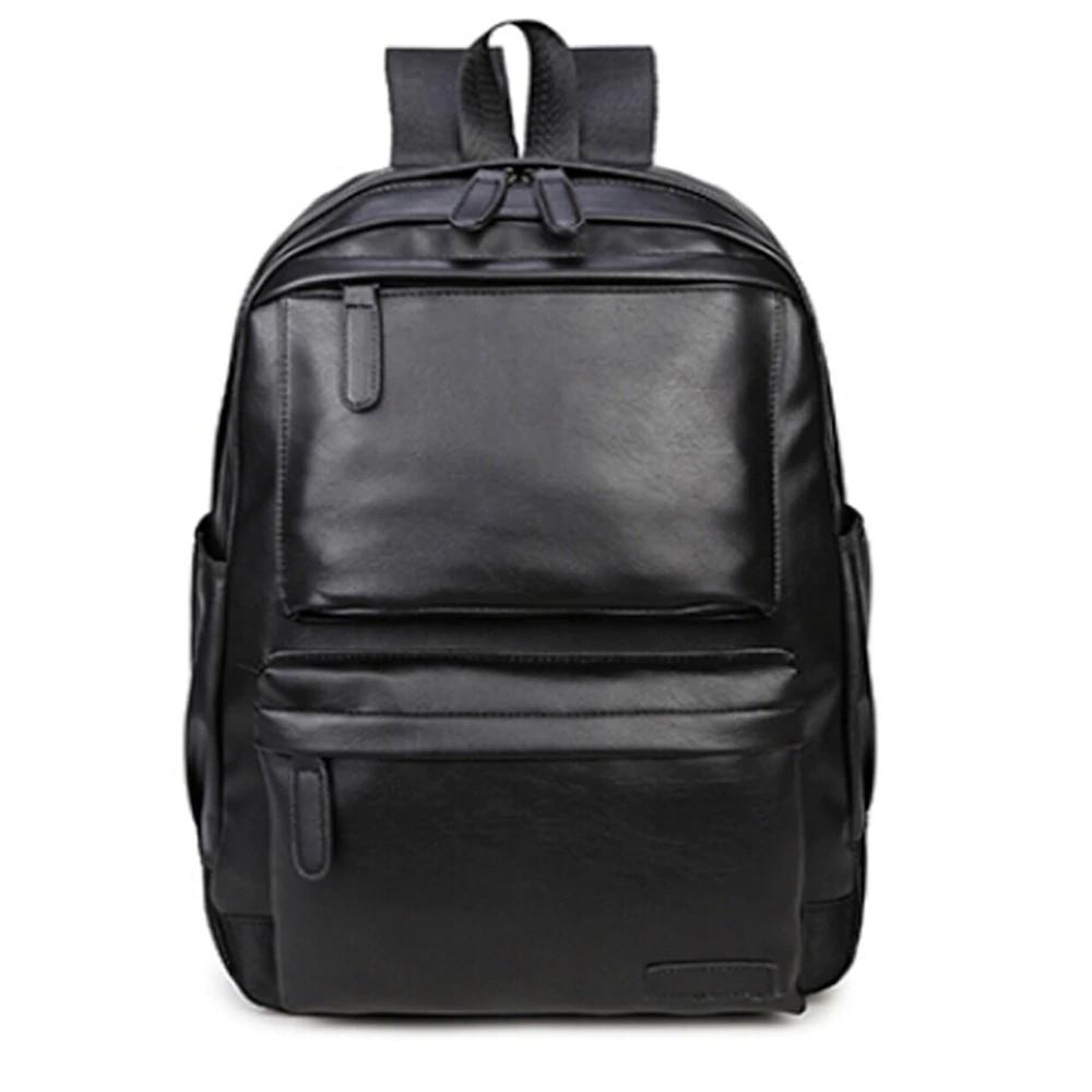 Vintage Men Women Leather Backpack Travel Satchel Rucksack Shoulder School