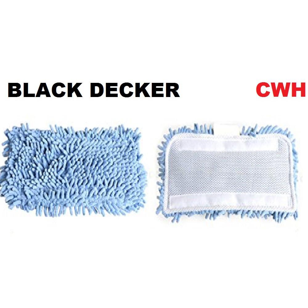 BLACK DECKER MICROFIBER STEAM MOP PAD FSM1605 FSM1610 FSM1620 FSM1621 BLACK AND DECKER BLACK&DECKER BLACKERDECKER B&D