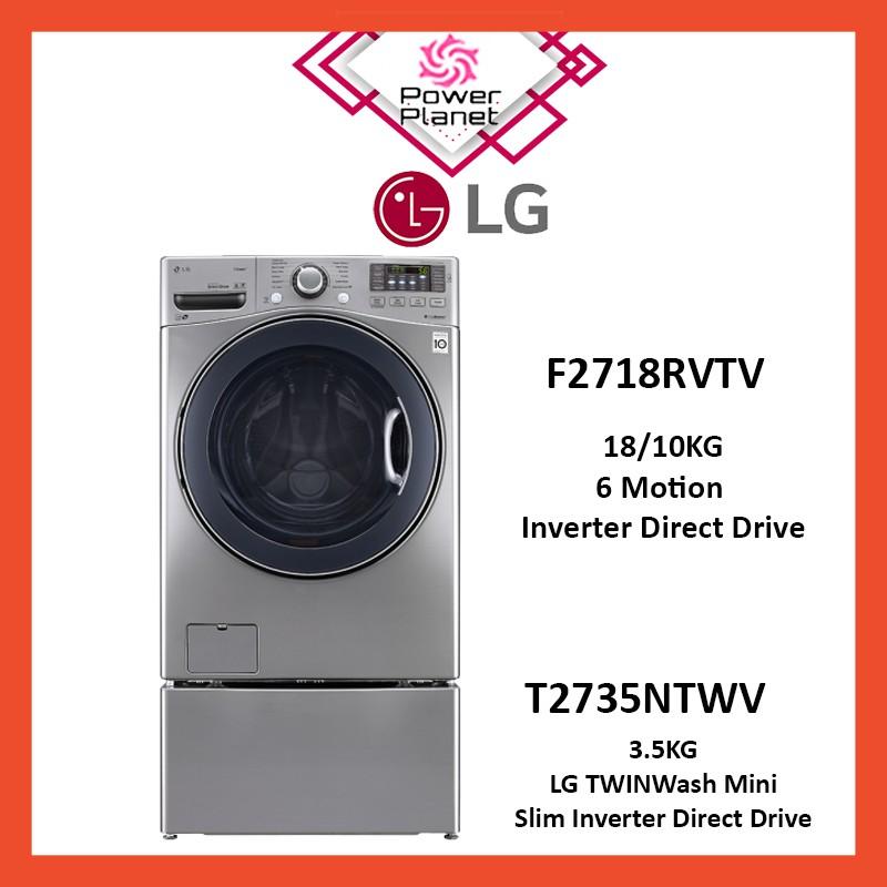 LG Washer Dryer F2718RVTV 18/10Kg + LG T2735NTWV 3.5Kg Mini Twin Wash