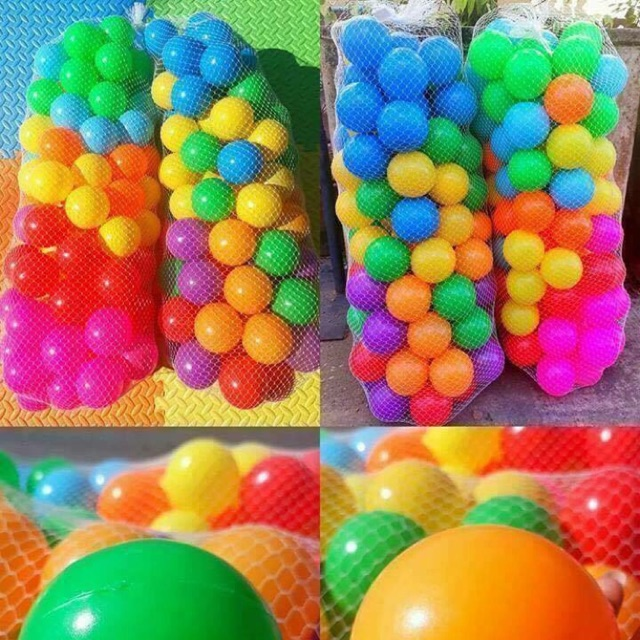 ลูกบอลสีสันสดใส 100 ลูก ส่งฟรี