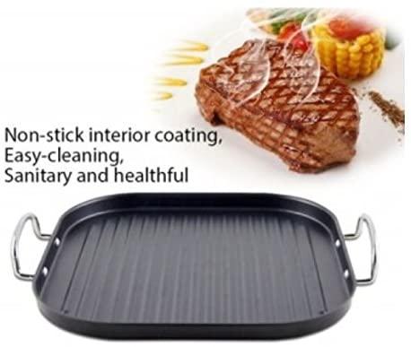 29cm Grill Dietetica Square Non-Stick Grill Pan Griddle Pan Non Stick