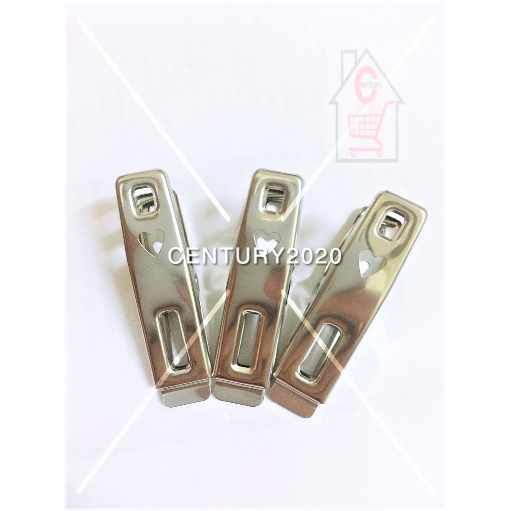 RIMEI Stainless Steel Pegs Multifunction Thickening Clip Clothes Pegs Laundry Folder Home Clothes Clip