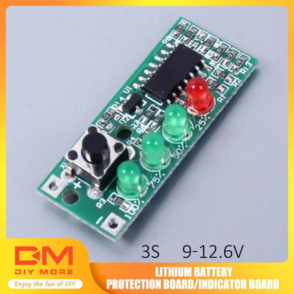 2PCS Battery Capacity Indicator 4 LEDs Display for 3S 9-12.6V Battery new