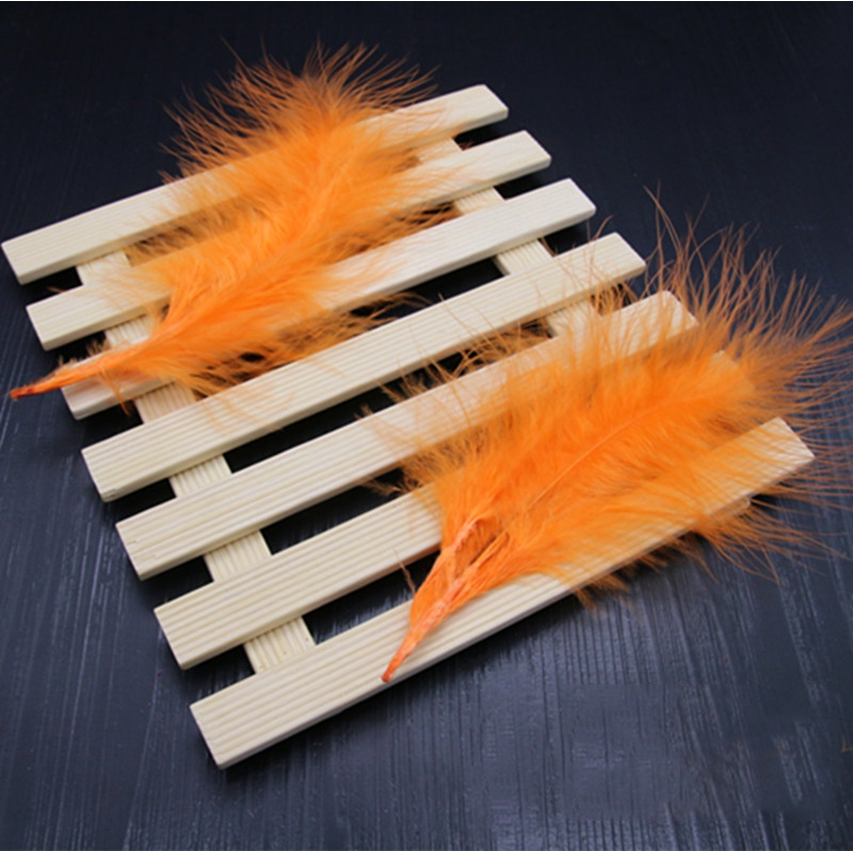 100pcs Chicken Feather 9-15 cm Turkey Feathers Carnival DIY Craft New