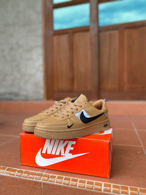 Nike Air Force Utility Low Top Women Shoes Ready Stock Khaki