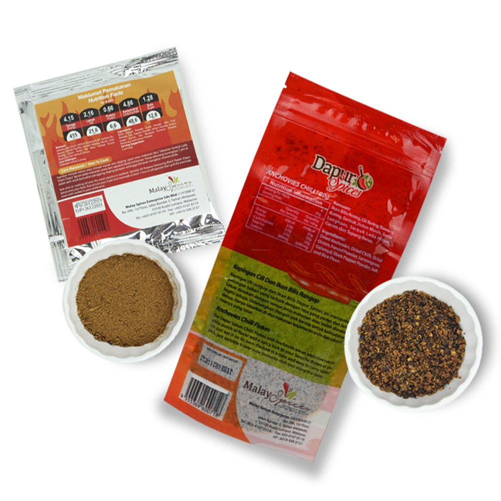 [Pack of 2]Spicy Anchovies Chili Flake +Black Pepper Seasoning Mix-Extra Spicy