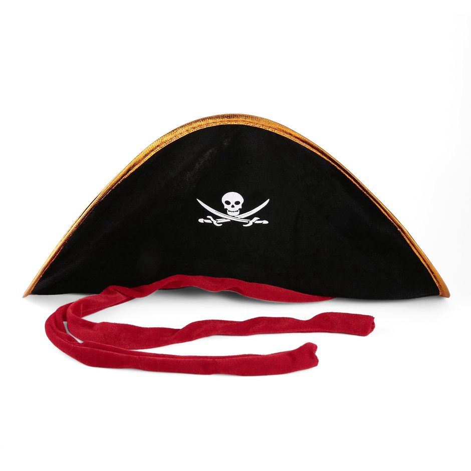 Polyester Pirate Captain Hat Skull Crossbone Cap Costume Fancy Dress Party Nice