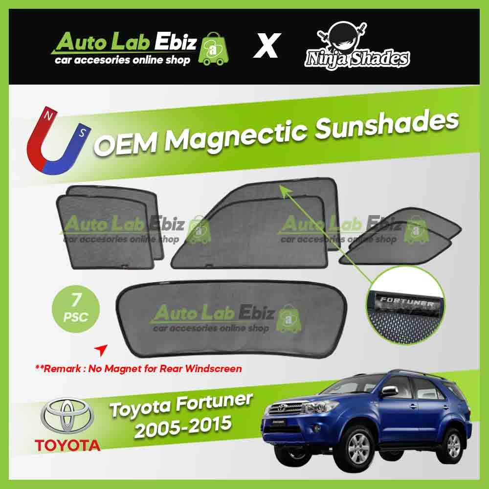 Toyota Fortuner 2005-2015 Ninja Shades OEM Magnetic Sunshade (7pcs)