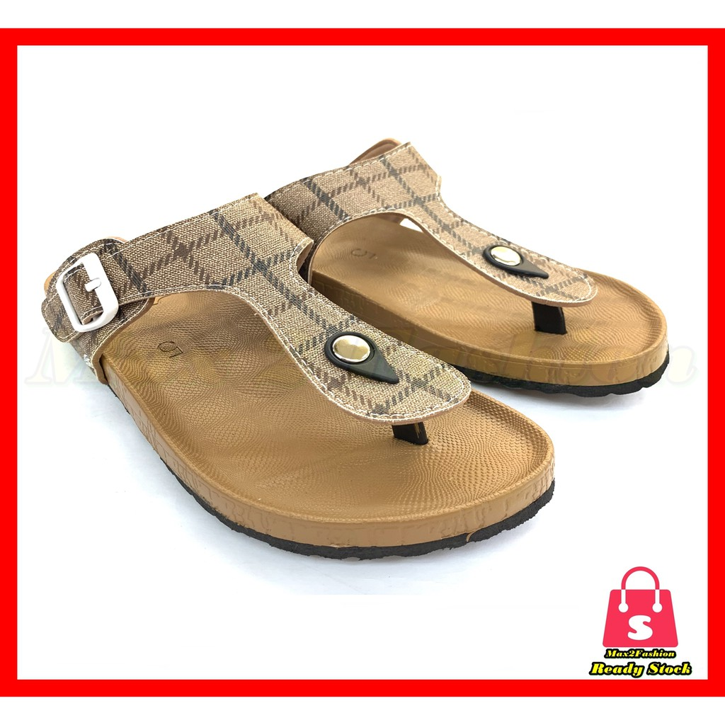 *C&T* {Ready Stock}Ladies Slipper Briken Style Fashion Non-slip Comfort Sandal 2355