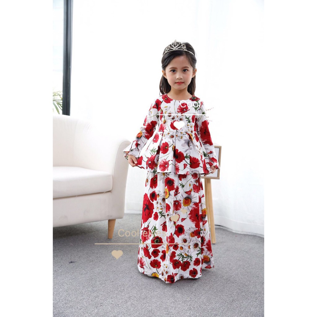 Mylilangelz KC2434 Cool Elves Jubah - Cheerful Daisies (READY STOCK)