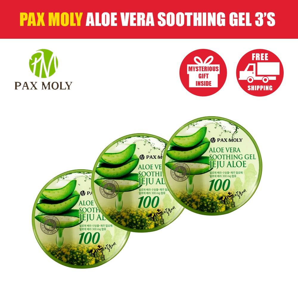 Pax Moly - Aloe Vera Soothing Gel Jeju Aloe x 3 (Directly from Korea)