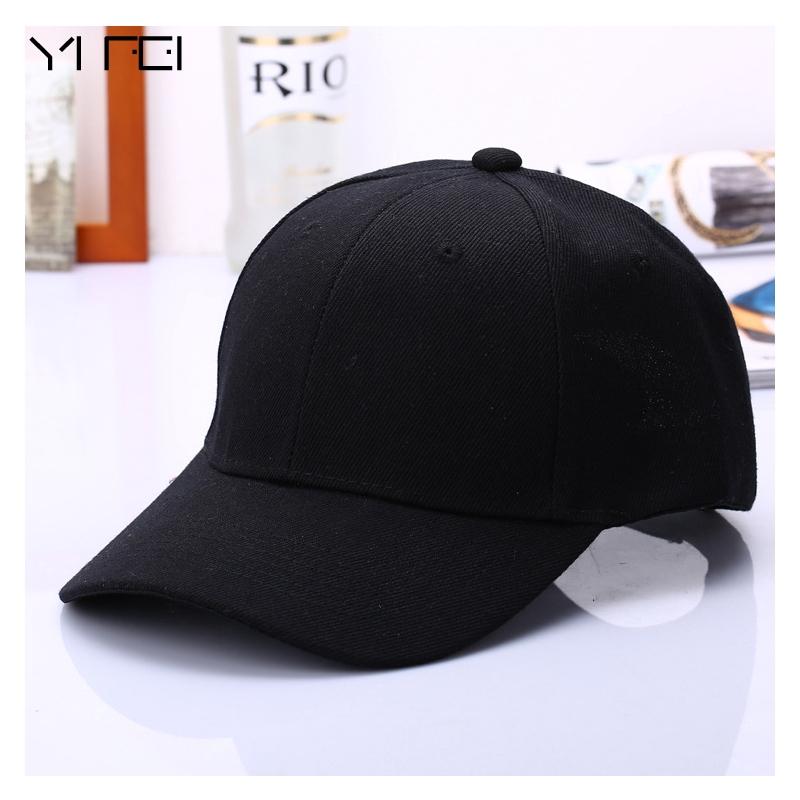 0b099ba14 Casquette Hats Fitted Casual Gorras Hip Hop Black Cap Solid Color Baseball  Cap Snapback Caps