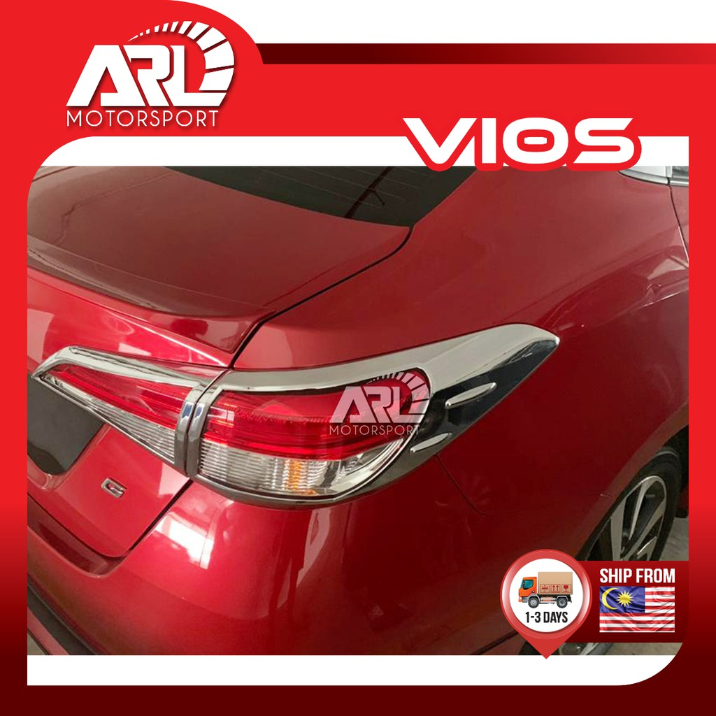 Toyota Vios Yaris (2019-2020) NSP151 Taillamp Chrome Cover Rear Tail Lamp Protector Car Auto Acccessories ARL Motorsport